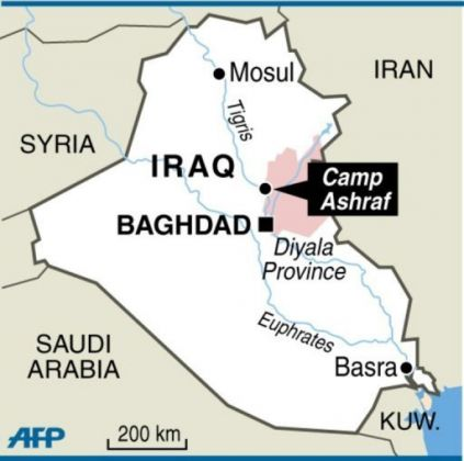 Camp Ashraf Map